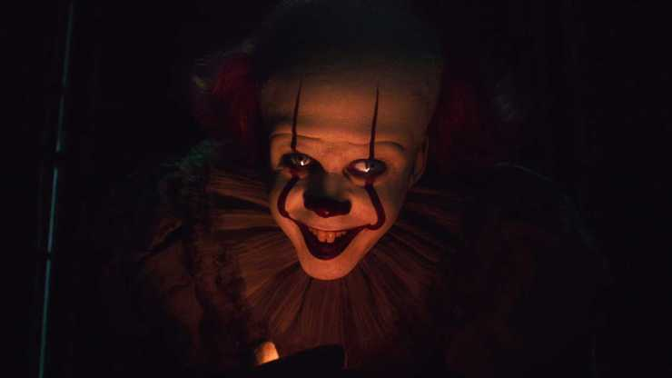 Pennywise (Bill Skarsgard) is back, as promised, for a final showdown with a now adult reunited Losers' Club in It: Chapter 2.