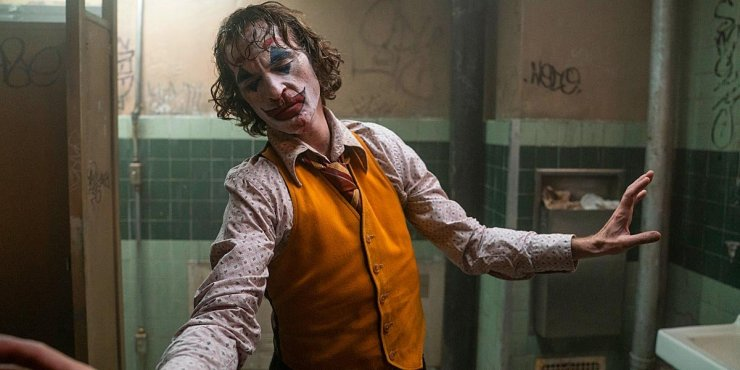 Arthur Fleck (Joaquin Phoenix) on his journey to becoming the most infamous villain in comic book history, the Joker.