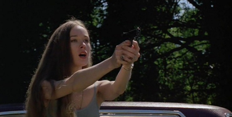 Camille Keaton in the classic rape revenge thriller I Spit On Your Grave.